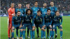 El once titular del Real Madrid en Turín. (Getty)