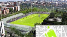 Recreación del nuevo Estadio Vallehermoso. (Foto. Madrid)
