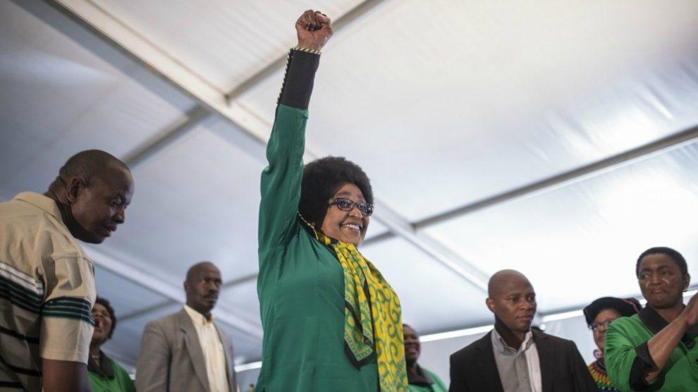 Winnie Mandela, activista contra el Apatheid.