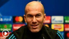 Zinedine Zidane, durante una rueda de prensa con el Real Madrid. (Getty)