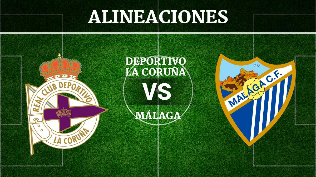 Consulta las posibles alineaciones del Deportivo de la Coruña vs Málaga
