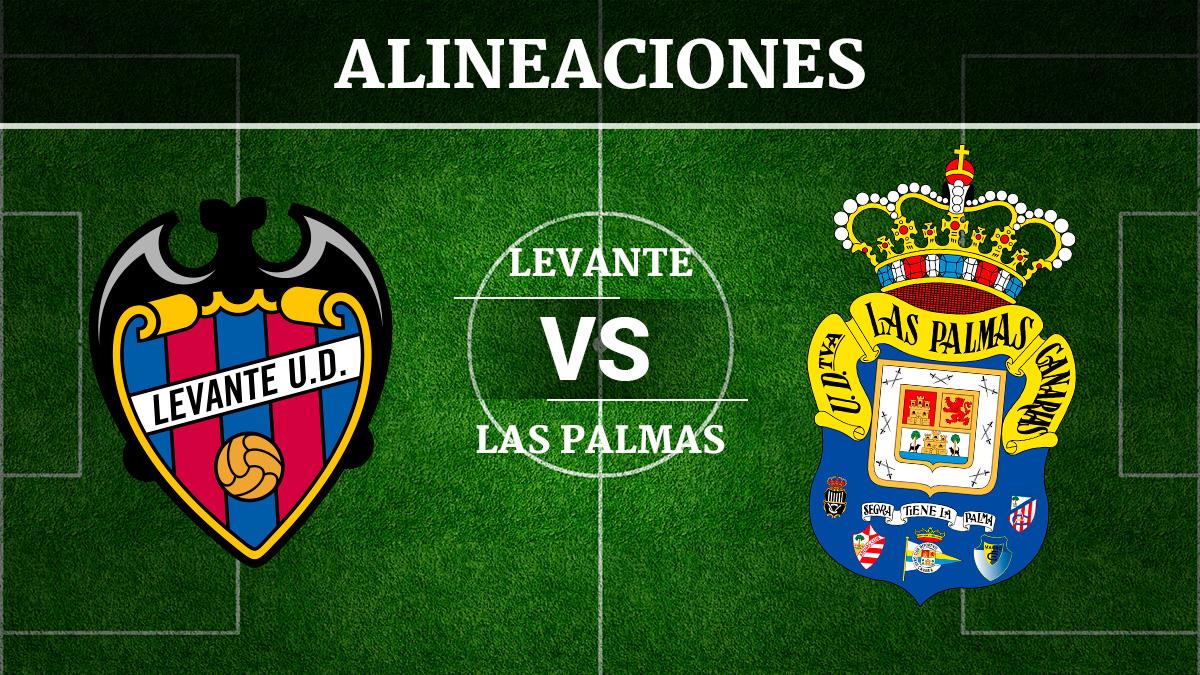 Consulta las posibles alineaciones del Levante vs Las Palmas