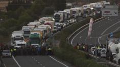 Los CDR cortan los accesos a la frontera con Francia en La Junquera (Foto:Twitter)