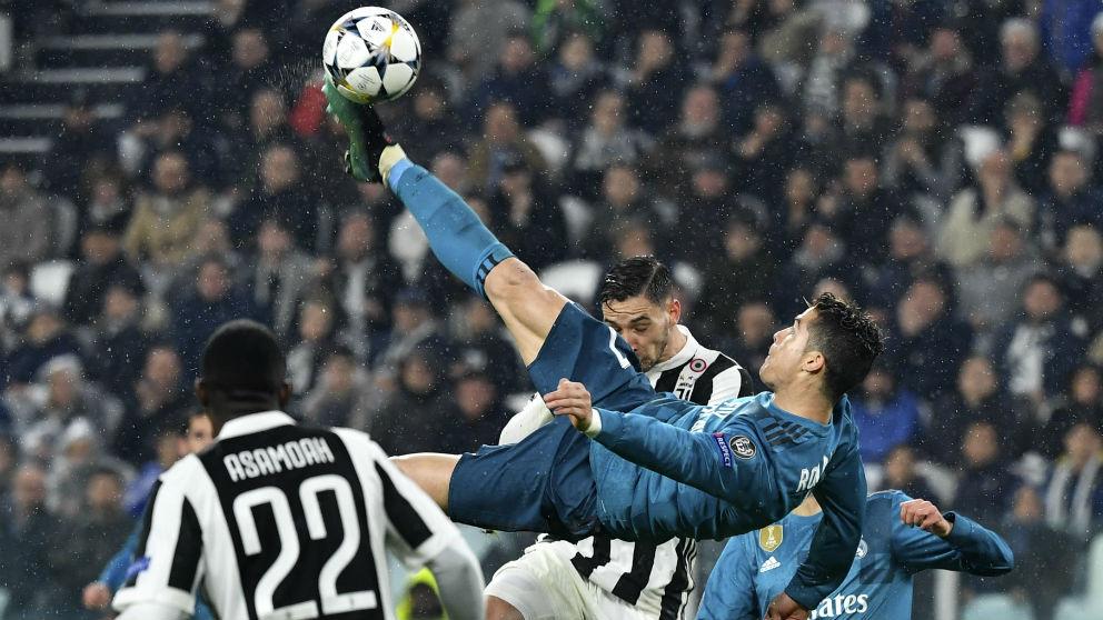 La chilena de Cristiano ante la Juventus que supuso el 0-2. (AFP)