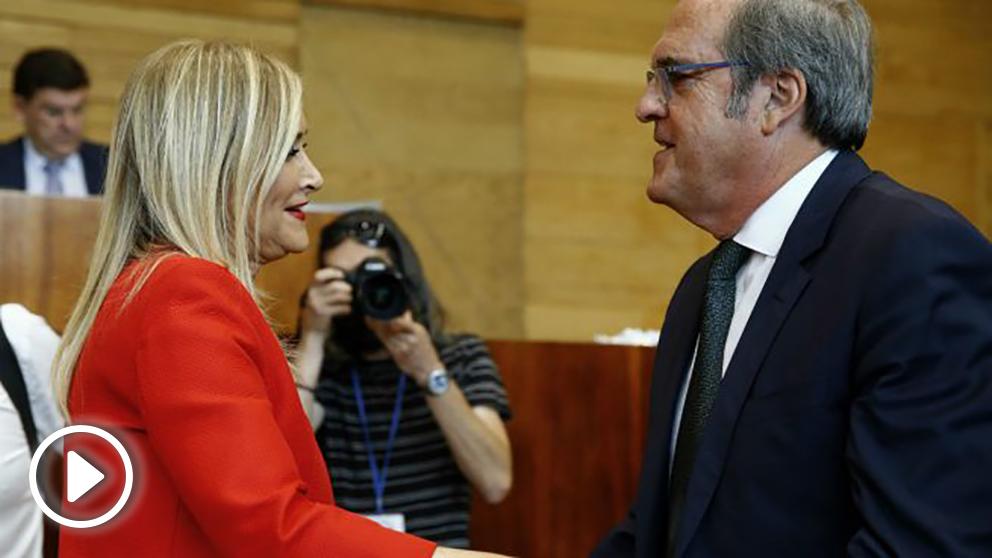 Cristina Cifuentes y Ángel Gabilondo. (Foto: EFE)