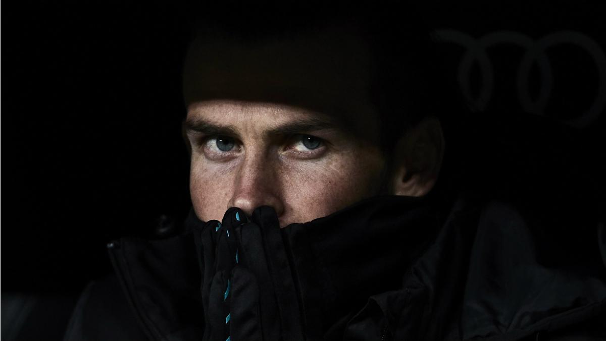 Gareth Bale, en el banquillo en un partido de esta temporada. (Getty)