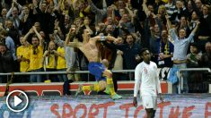 Ibrahimovic celebra su golazo de chilena en 2012. (vídeo: OKDIARIO)