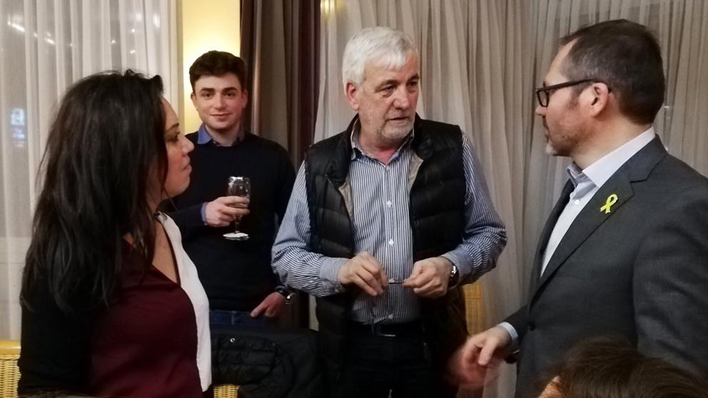 Marcela Topor, Josep Maria Matamala y Josep Costa. (Foto: ANC)