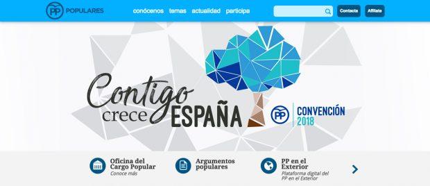 Web del Partido Popular.