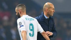 Zidane y Benzema, en un partido de Champions. (Getty)