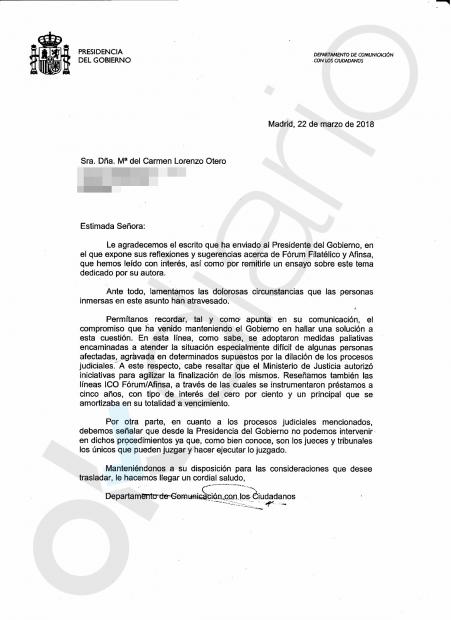 Rajoy se lava las manos en el caso Fórum y Afinsa: