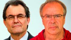 Artur Mas y su cuñado Joan Antoni Rakosnik