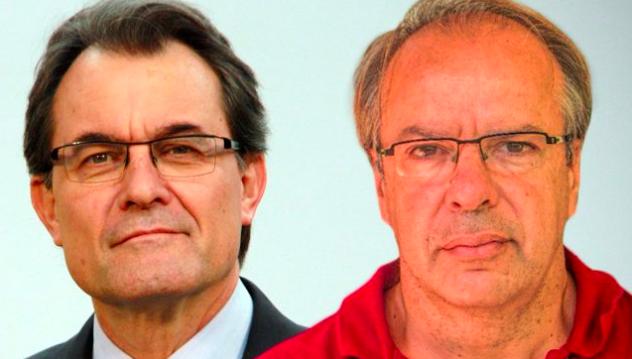Artur Mas y su cuñado Joan Antoni Rakosnik.