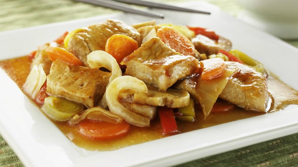 Receta de Chop suey de pollo y verduras oriental paso a paso