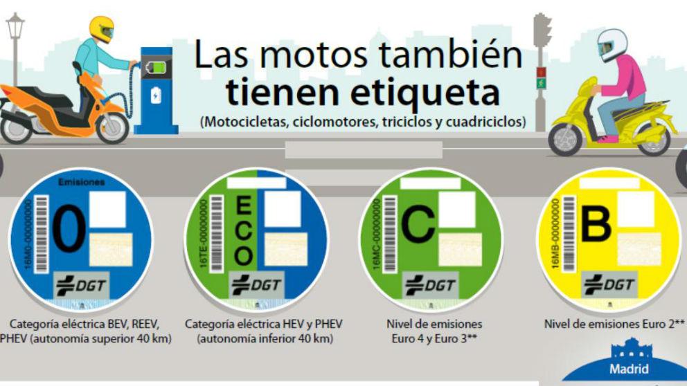 Desde ya mismo los usuarios de motocicletas y ciclomotores en España podrán recoger en cualquier oficina de Correos su etiqueta de la DGT que identifique su vehículo como respetuoso con el medio ambiente.