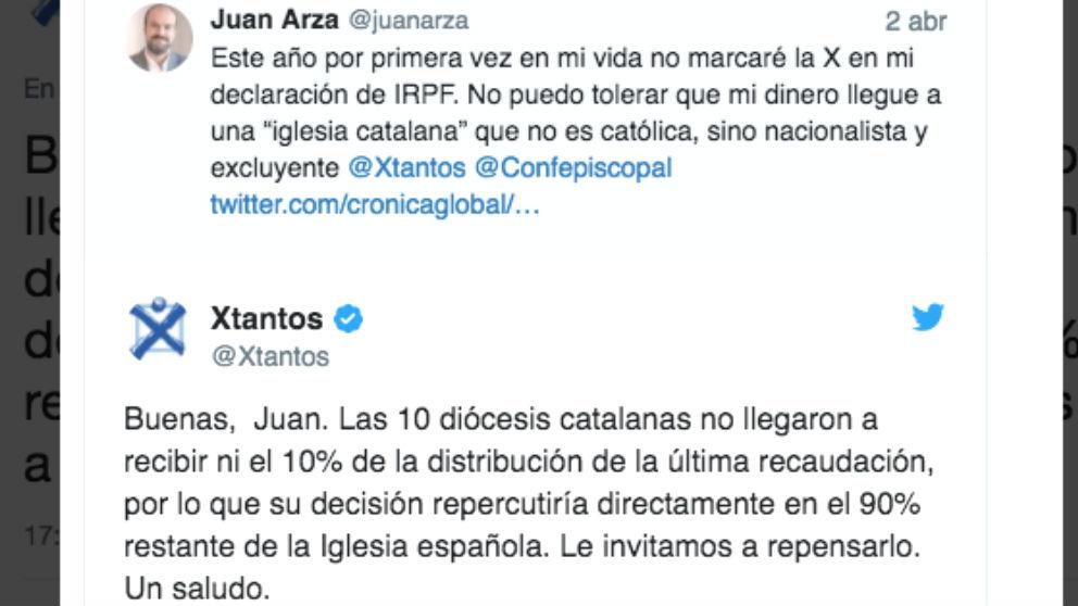 La Iglesia católica intenta convencer a los contribuyentes para marcar la x en su declaración de la renta