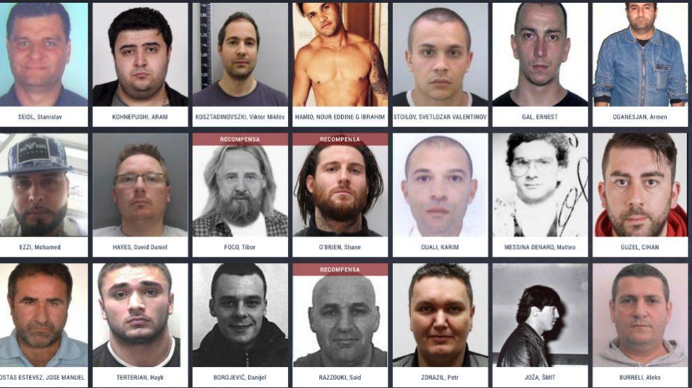 Los más buscados por la Europol