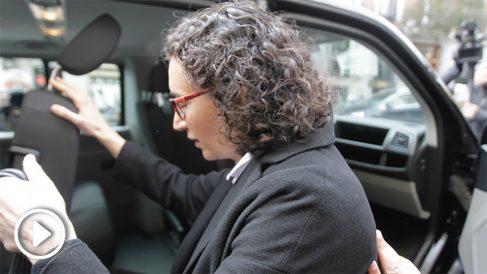 Marta Rovira a la salida del Tribunal Supremo (Foto: Francisco Toledo)
