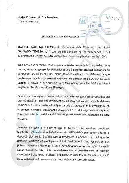 La Guardia Civil toma declaración a empleados de Mediapro ante la evidencia de que Roures impulsó el 1-O