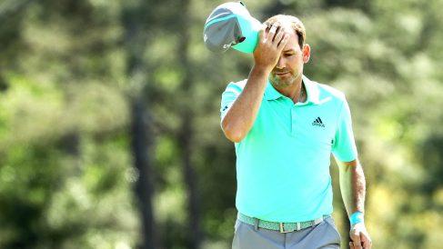 Sergio García, este jueves en el Masters de Augusta (Foto: AFP).