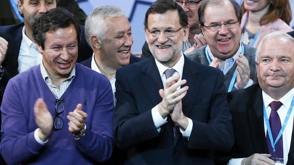 Carlos Floriano junto a Mariano Rajoy. (Foto: AFP)