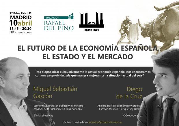 Madrid Invest celebra este martes un foro sobre el futuro de la economía con Miguel Sebastián y Diego de la Cruz