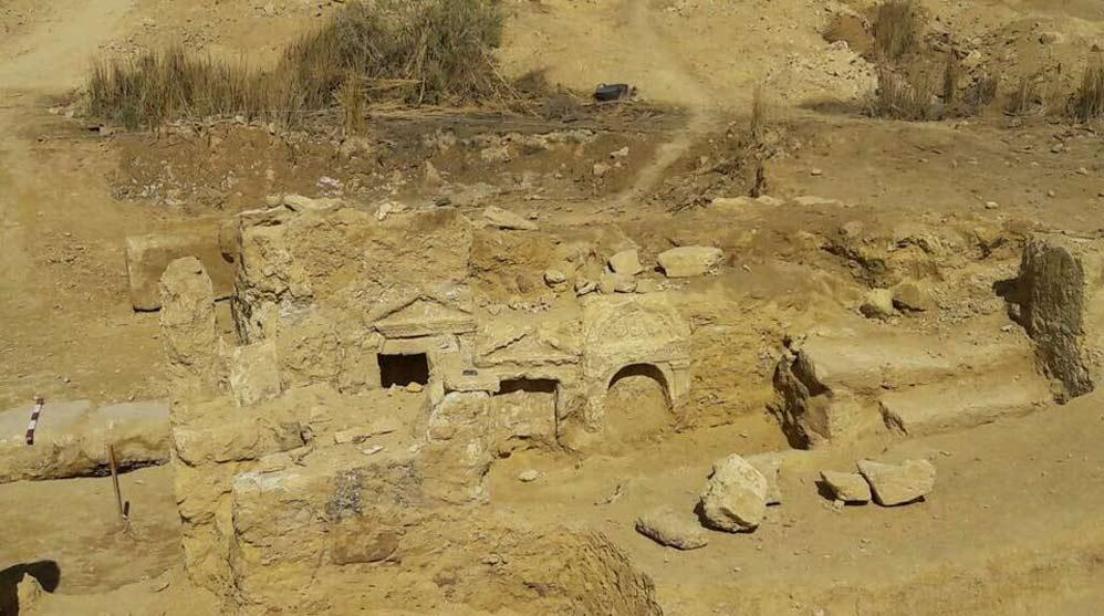 Entrada del templo grecorromano (Ministerio de Antigüedades de Egipto)