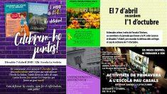Carteles de la fiesta de la primavera independentista