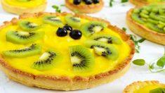 Receta de tarta de kiwi.