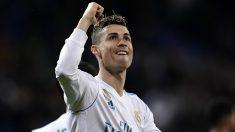 Cristiano celebra uno de sus goles al Girona. (AFP)