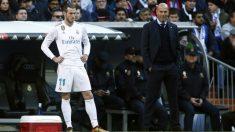 Zidane junto a Bale durante un partido. (AFP)