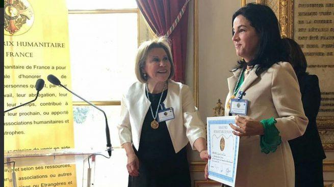 La senadora colombiana Sofía Gaviria recibe el Gran Premio Humanitario de Francia