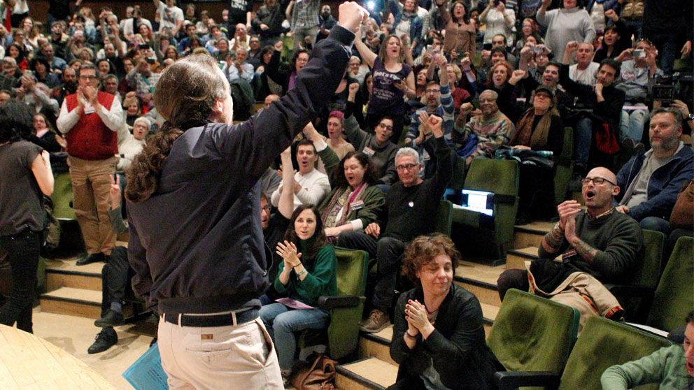 Pablo Iglesias en la Complutense (Foto: EFE)