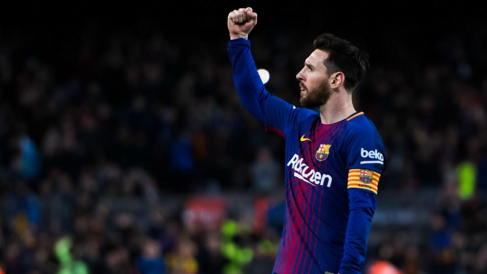 Messi celebra un gol. (Getty)