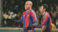 Ronaldo durante su etapa en el Barcelona. (AFP)