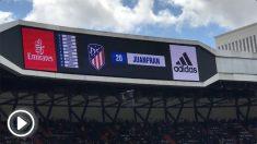 Juanfran Torres fue ovacionado por el Santiago Bernabéu.