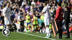 Benzema entra por Cristiano. (AFP)
