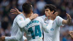 Jesús Vallejo, en un partido con el Real Madrid. (AFP)