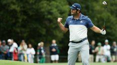 Jon Rahm celebra un 'birdie' en el Masters de Augusta 2018. (Getty)