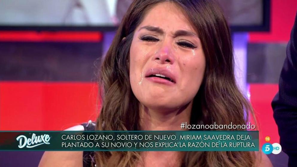 Miriam, entre lágrimas, en 'Sálvame Deluxe'