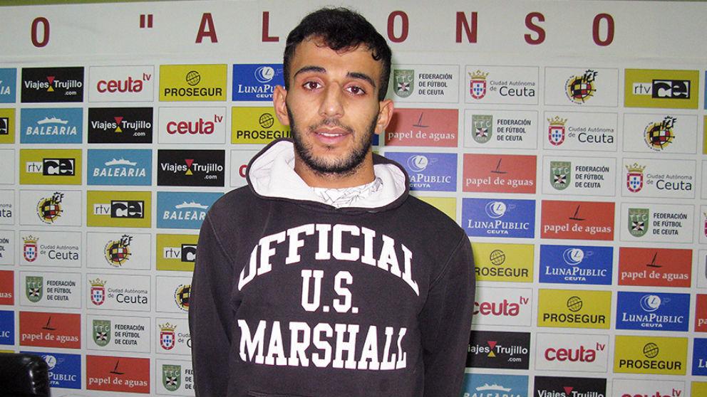 Nabil, jugador del Ceuta. (ceutadeportiva.com)