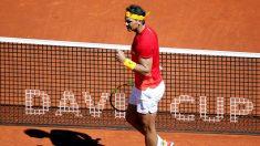 Nadal, durante un partido de la pasada edición de la Copa Davis. (EFE)