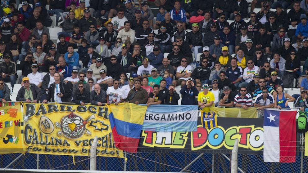 Los fans de Márquez en el GP de Argentina. (Getty)