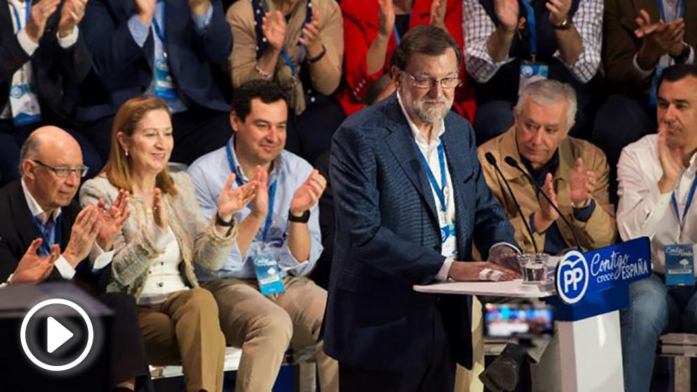 El presidente del Gobierno, Mariano Rajoy, en la Convención Nacional del PP.