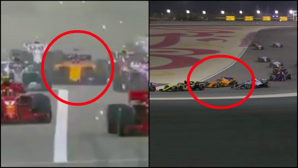 Espectacular salida de Alonso en Bahréin.