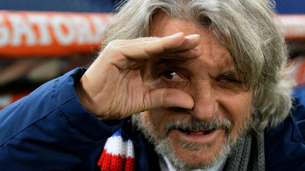 El presidente de la Sampdoria durante un partido. (AFP)