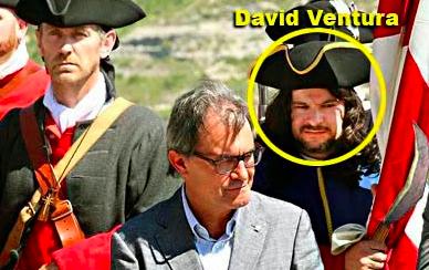 David Ventura en un acto con Artur Mas en San Hipólito en 2014