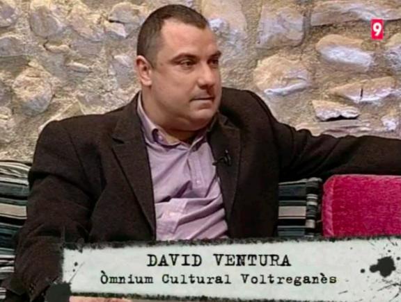 El asesino David Aparicio en su etapa de líder de Òmnium Cultural
