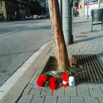 Lugar donde el agresor asesinó a un seguidor del RCD Español en Barcelona