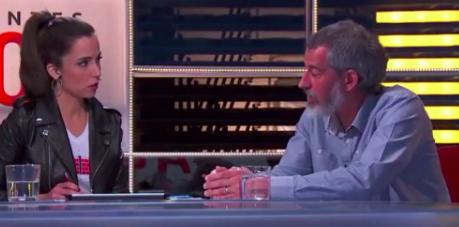El mosso independentista David Torrents en TV· (Foto:Twitter)